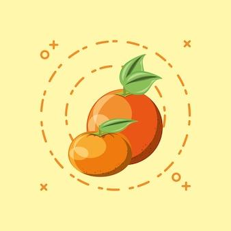Orange and tangerine