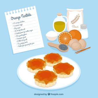 オレンジtartletsレシピ
