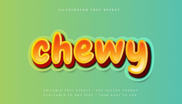 Оранжевый вкусный жевательный эффект шрифта в стиле текста