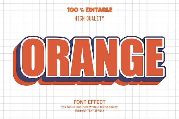 Оранжевый текст, редактируемый эффект шрифта