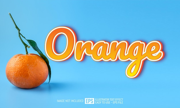 Orange text editable style effect template