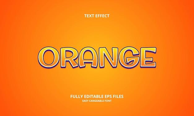 오렌지 텍스트 효과 디자인 템플릿
