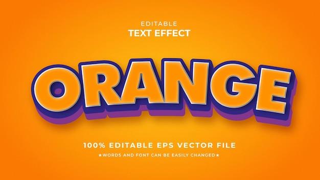 Оранжевый текстовый эффект редактируемый шаблон eps