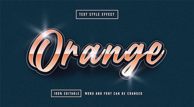 Orange text effect editable