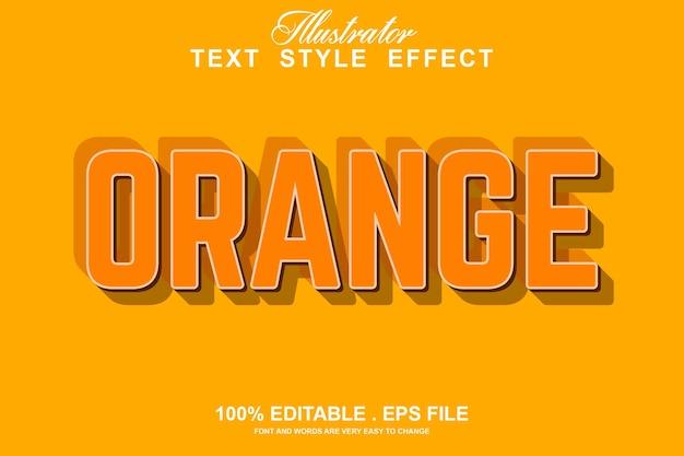 Оранжевый текстовый эффект редактируемый