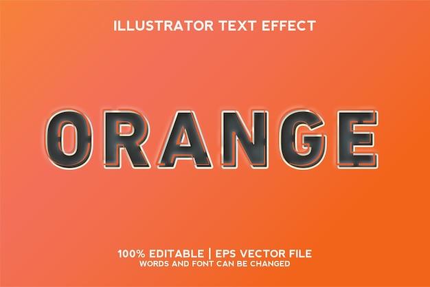 オレンジ色のテキスト効果テンプレート