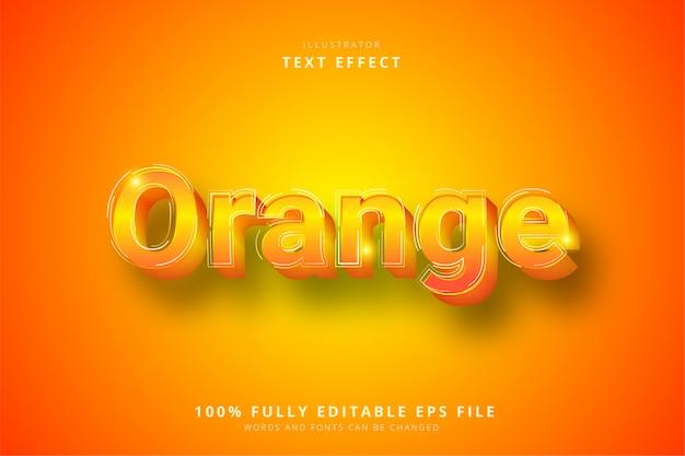 オレンジのテキスト効果