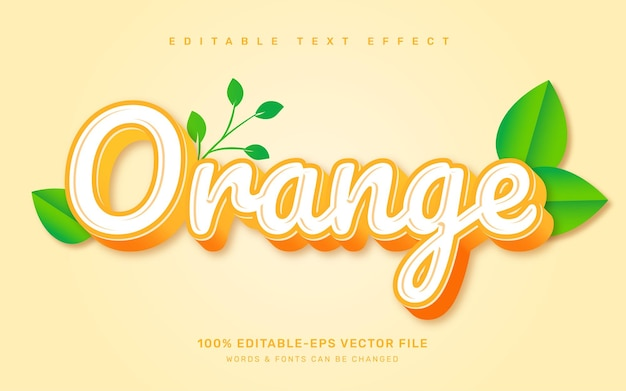 Orange text effect