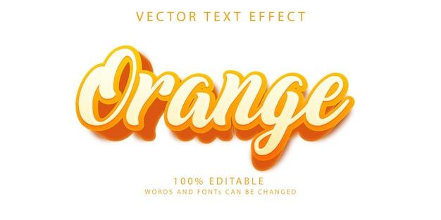 Шаблон стиля оранжевых текстовых эффектов
