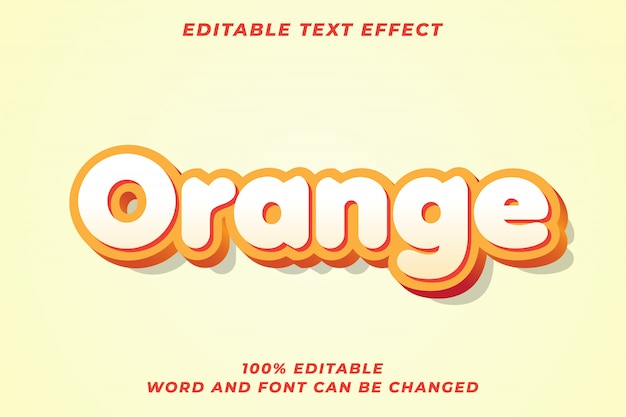 Orange text style effect