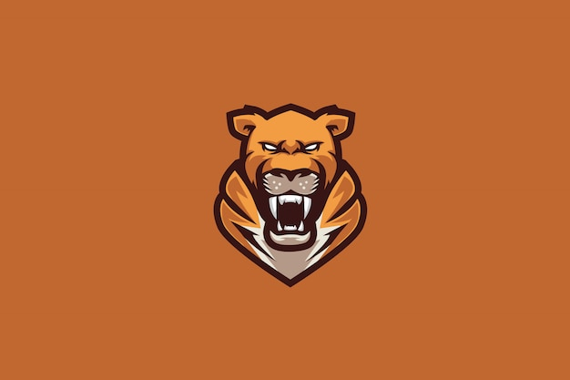 Orange tiger e sports логотип