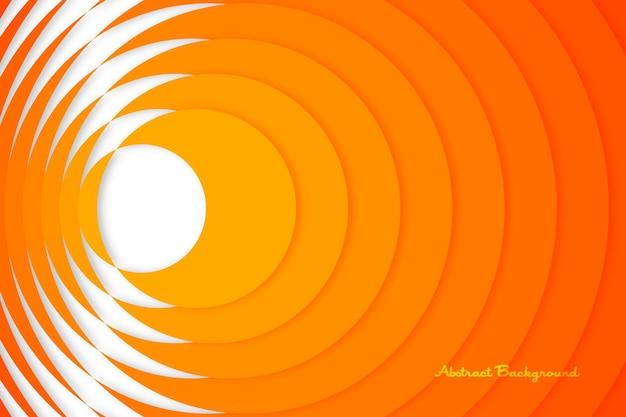 오렌지 노란색 원형 반 잘라 터지는 계층화 된 최소한의 배경 개요