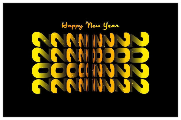 オレンジから黄色のグラデーションブックフリップレイヤードスタイルの風景2022明けましておめでとうございます