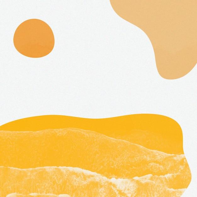オレンジ色のトーンのシンプルなメンフィスベクトル