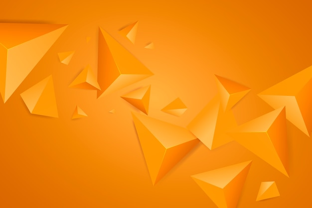 Orange triangle background with vivid colors