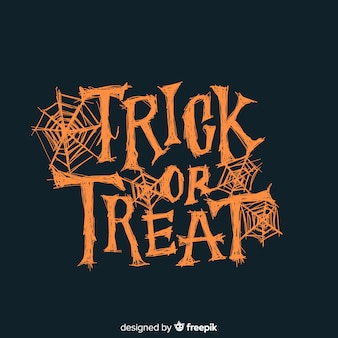 Orange trick or treat lettering