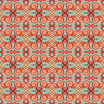 Orange and turquoise pattern