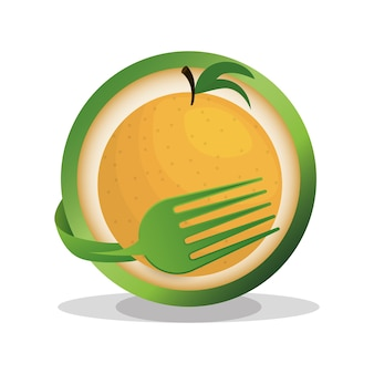 Orange vegan food fresh