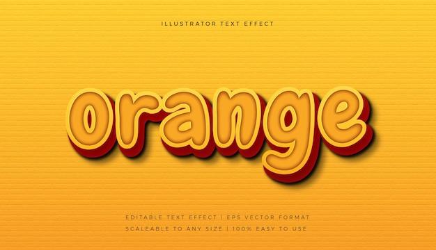 Оранжевый яркий игривый эффект шрифта в стиле текста