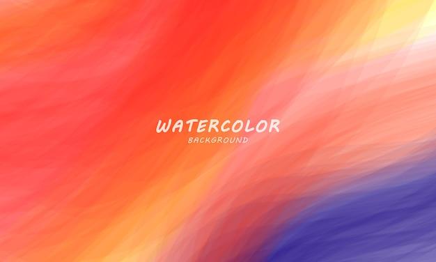 Оранжевый акварельный фон, абстрактный гранж-фон и текстуры мазки
