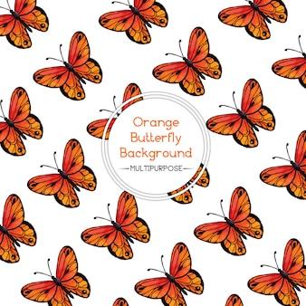«оранжевый акварельный фон бабочки»