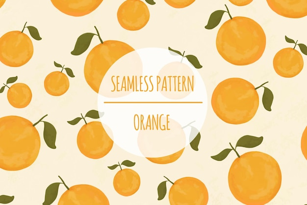 오렌지 수채화 원활한 패턴 프리미엄