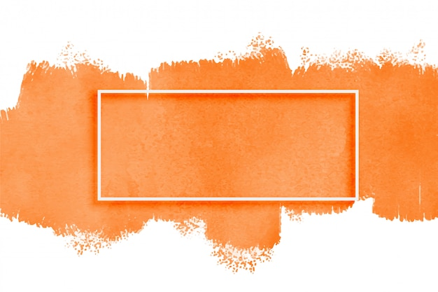 Orange watercolor texture with copyspace