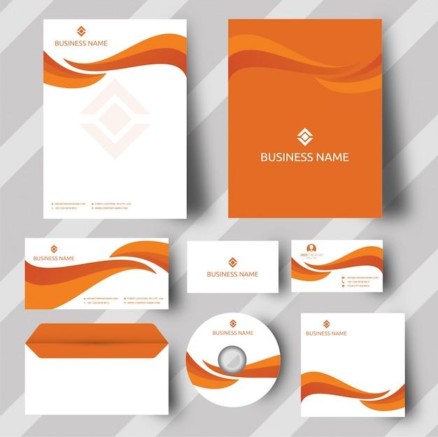 オレンジ色の企業のアイデンティティ
