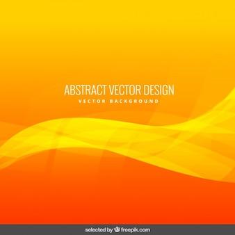 Orange wavy abstract background
