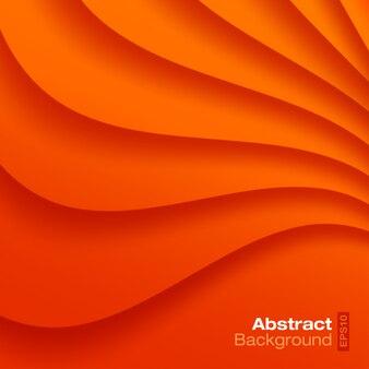オレンジ色の波状の背景。図