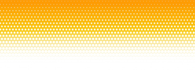 Orange and white halftone pattern banner background