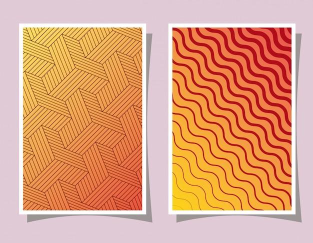 오렌지색 그라데이션 패턴