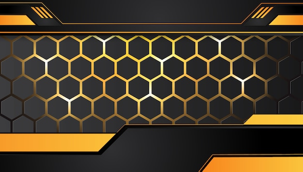Orange yellow and black abstract background.