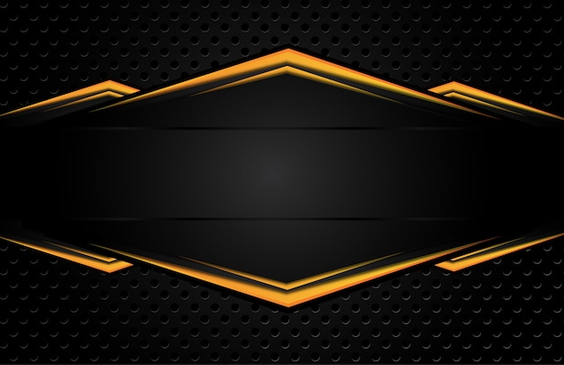 Orange yellow and black abstract business background.
