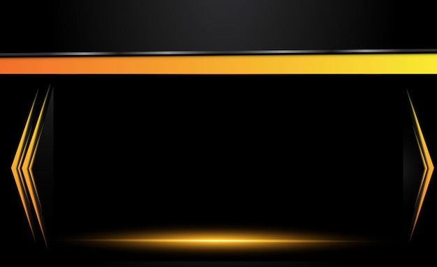 Orange yellow and black abstract business background