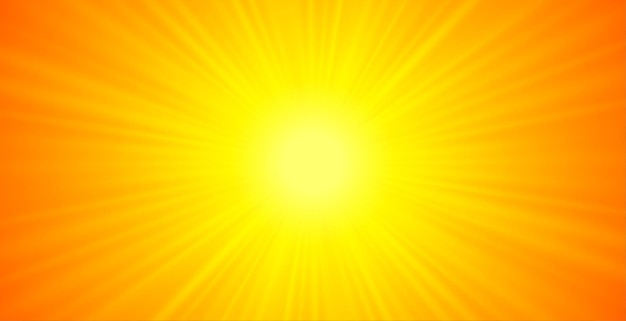 Orange and yellow glowing rays background