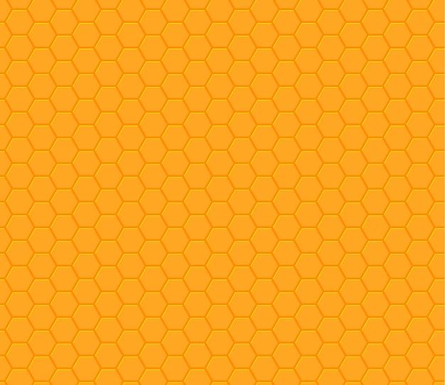 주황색 노란색 육각형 벌집 원활한 패턴
