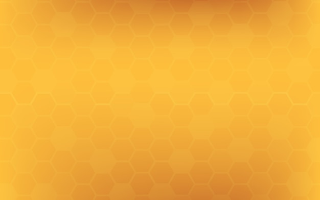 Orange yellow honeycomb abstract background.