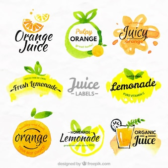 Oranges and lemons labels