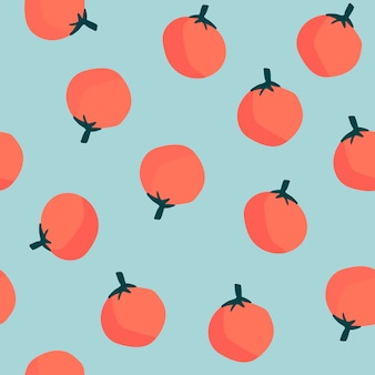 Oranges on blue seamless pattern background vector