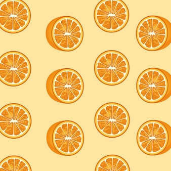 Oranges citrus fruits decorative pattern.