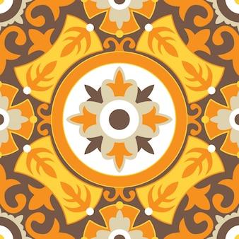 오렌지 꽃 원활한 패턴