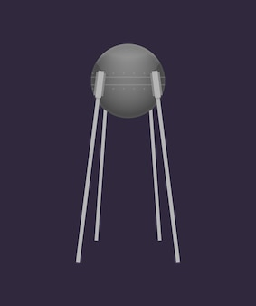 Orbital satellite in universe icon