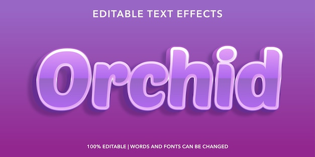 Orchid 3d style editable text effect