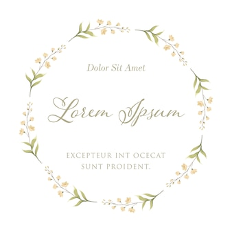 Orchid flower for floral frame wreath. wedding invitation card template