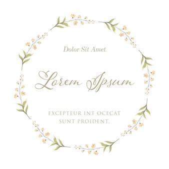꽃 프레임 화 환에 대 한 난초 꽃입니다. 결혼식 초대 카드 템플릿