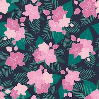 蘭の花のシームレスパターン