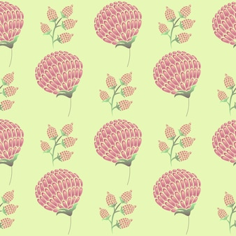 난초 꽃과 꽃 봉오리 패턴