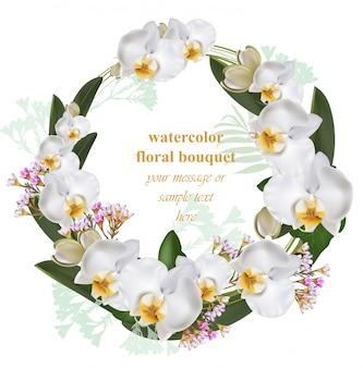 蘭の花がラウンドカード