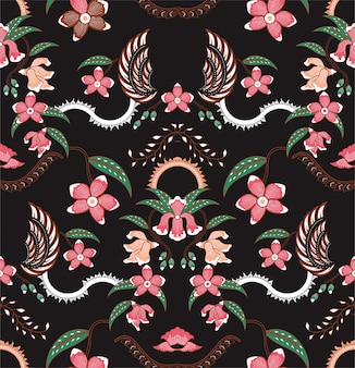 Orchid pattern batik